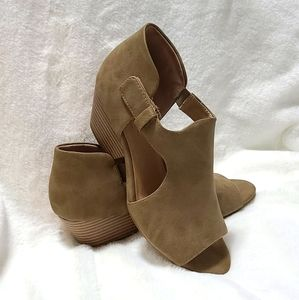 Soul naturalizer open toe booties sz 7.5